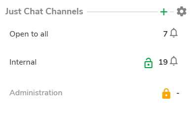 just chat channels